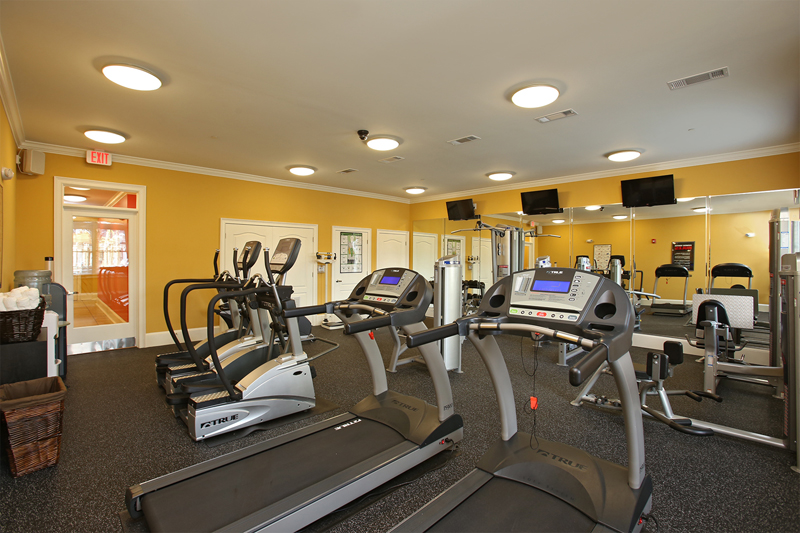 Fitness Center with cardio equipment at Abberly Crossing