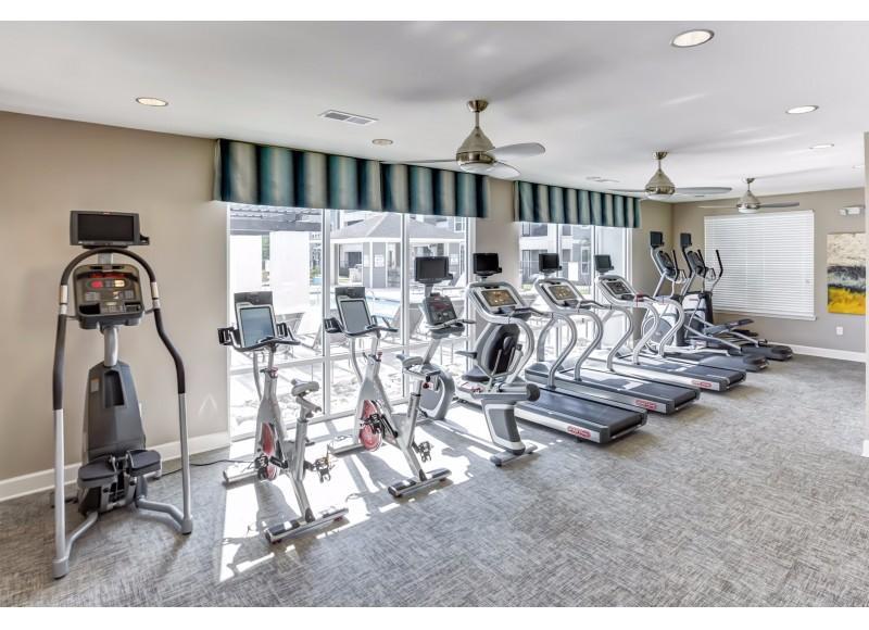 Atlantic at Parkridge fitness room with cardio equipment